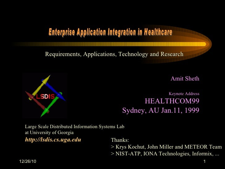 Workflow Process Management and Enterprise Application Integration in Healthcare