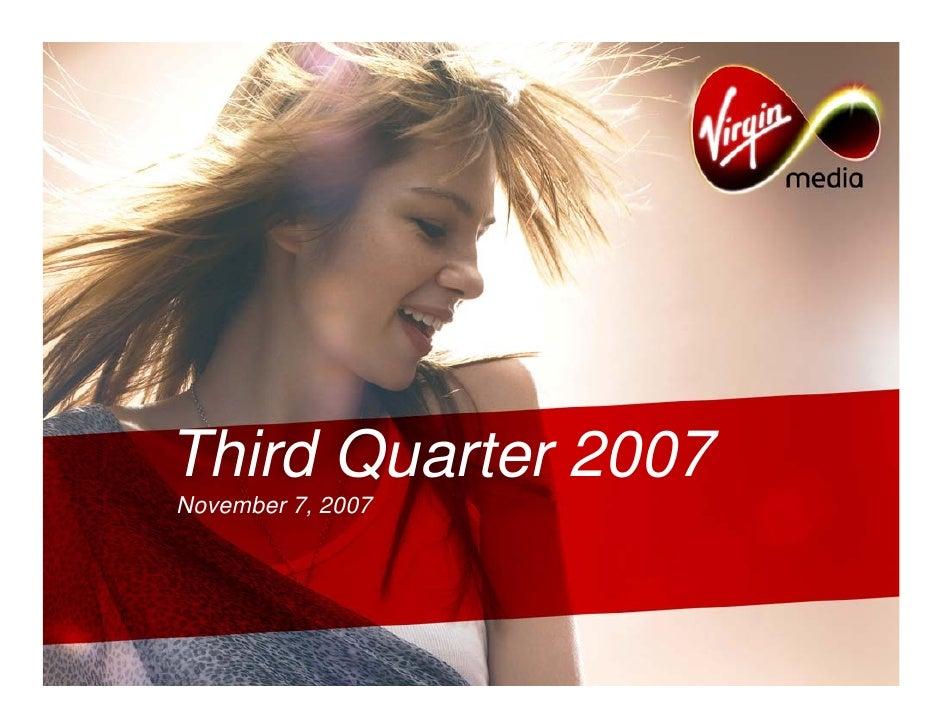 Third Quarter 2007 November 7, 2007