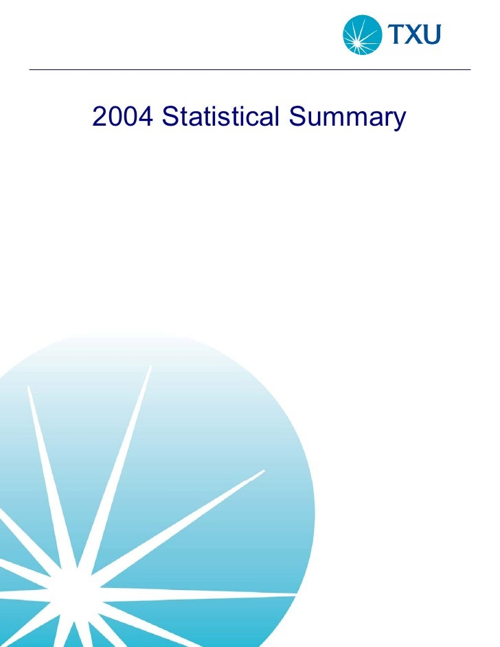 energy future holindings StatisticalSummary2004