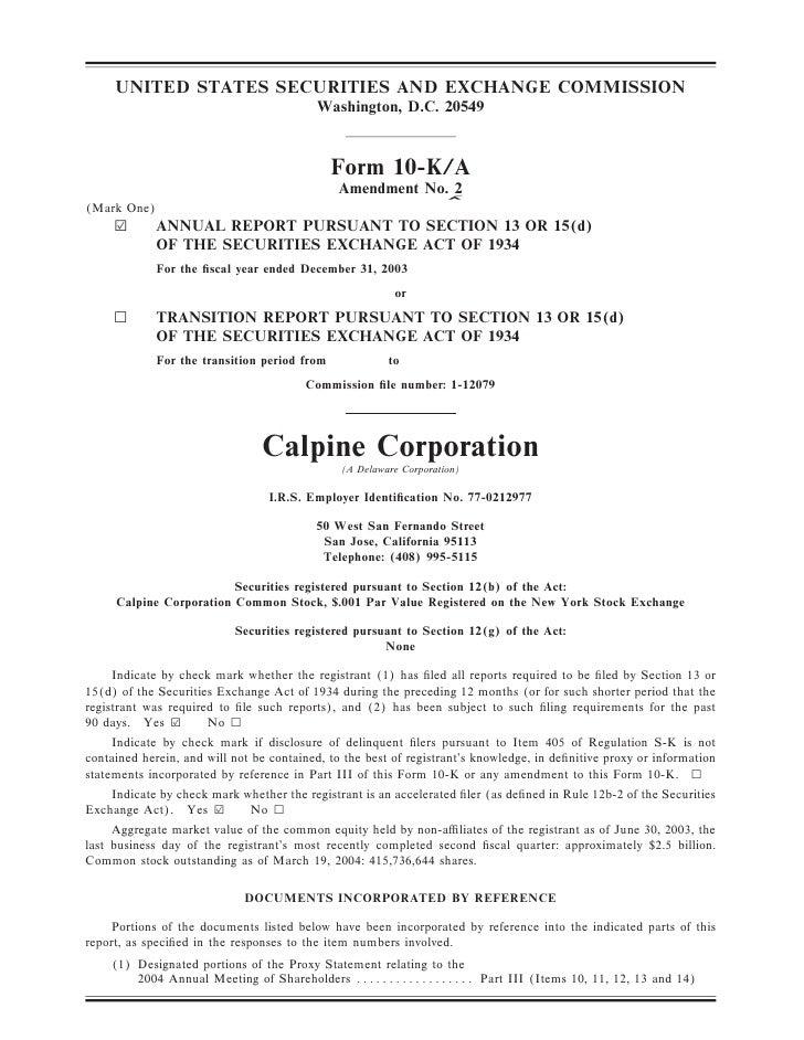 calpine 200310KA2Redline