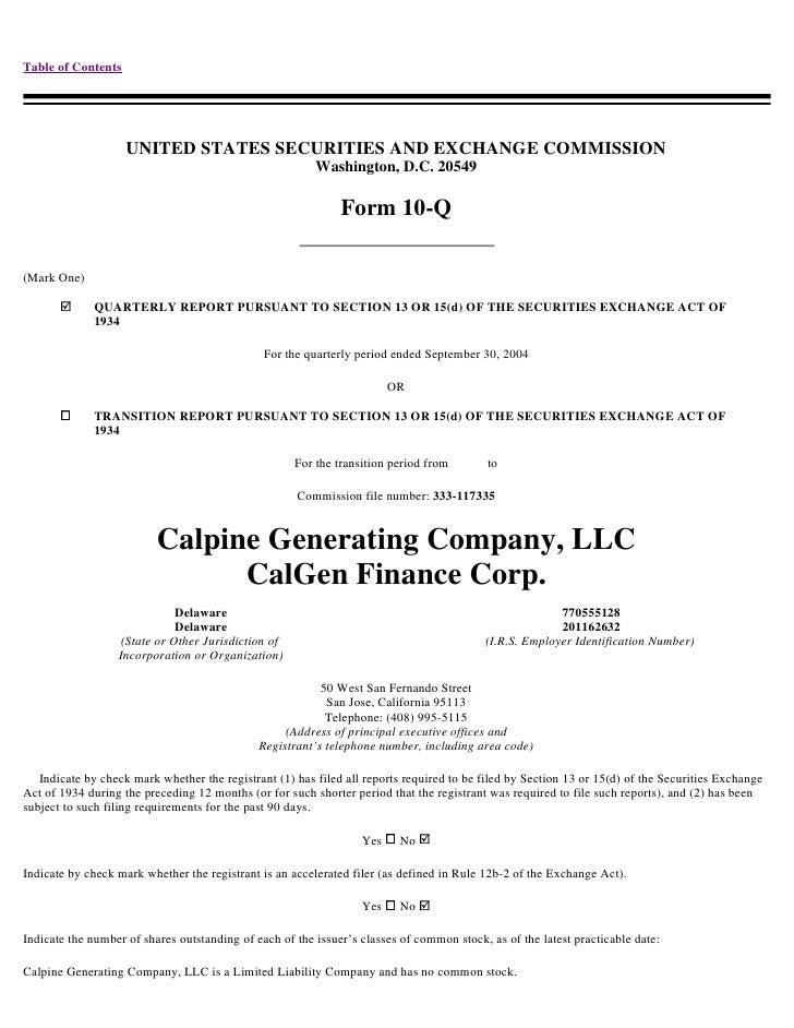 calpine  Q04CALGEN
