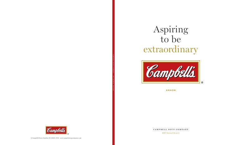 campbell soup annual reports 2007
