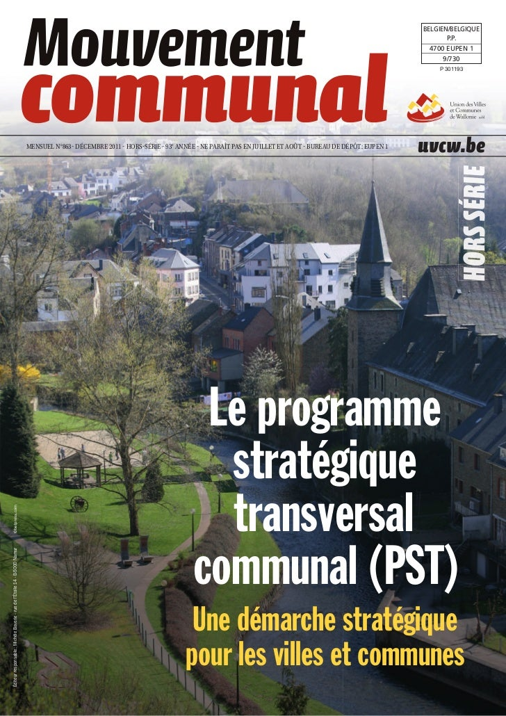 Le programme stratégique transversal communal (PST) - Une démarche stratégique pour les villes et communes