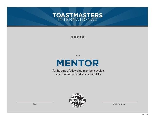 Mentoring - Mentor Certificate