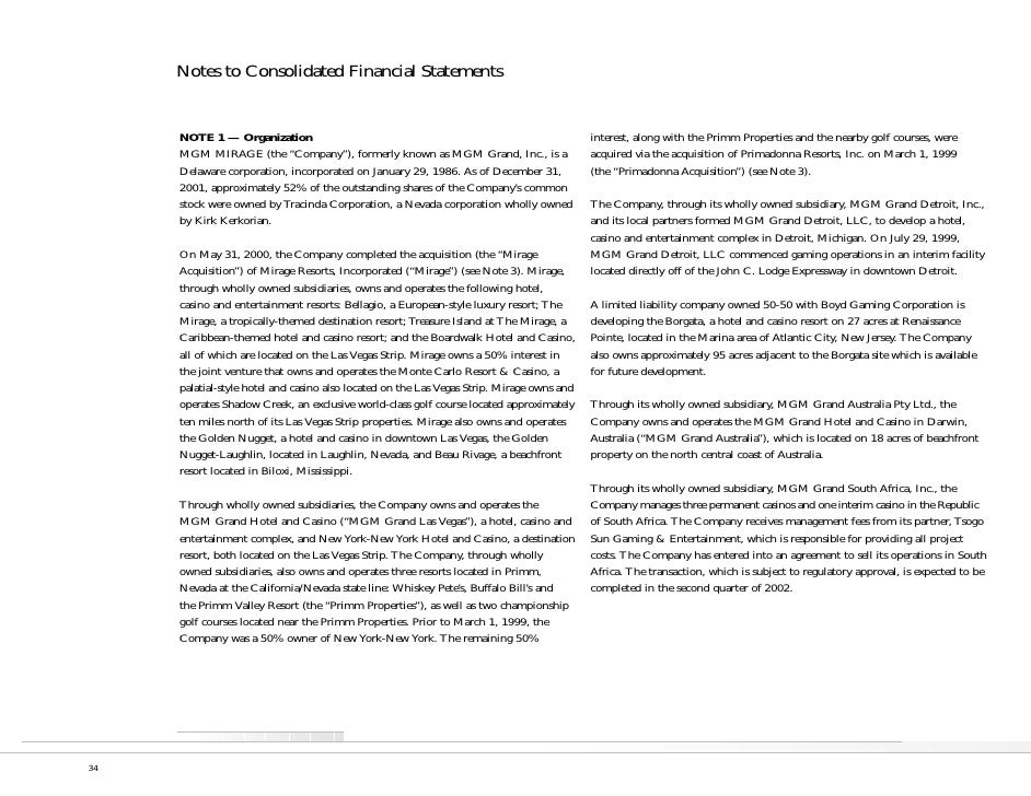 Notes to Consolidated Financial Statements                                                                                ...