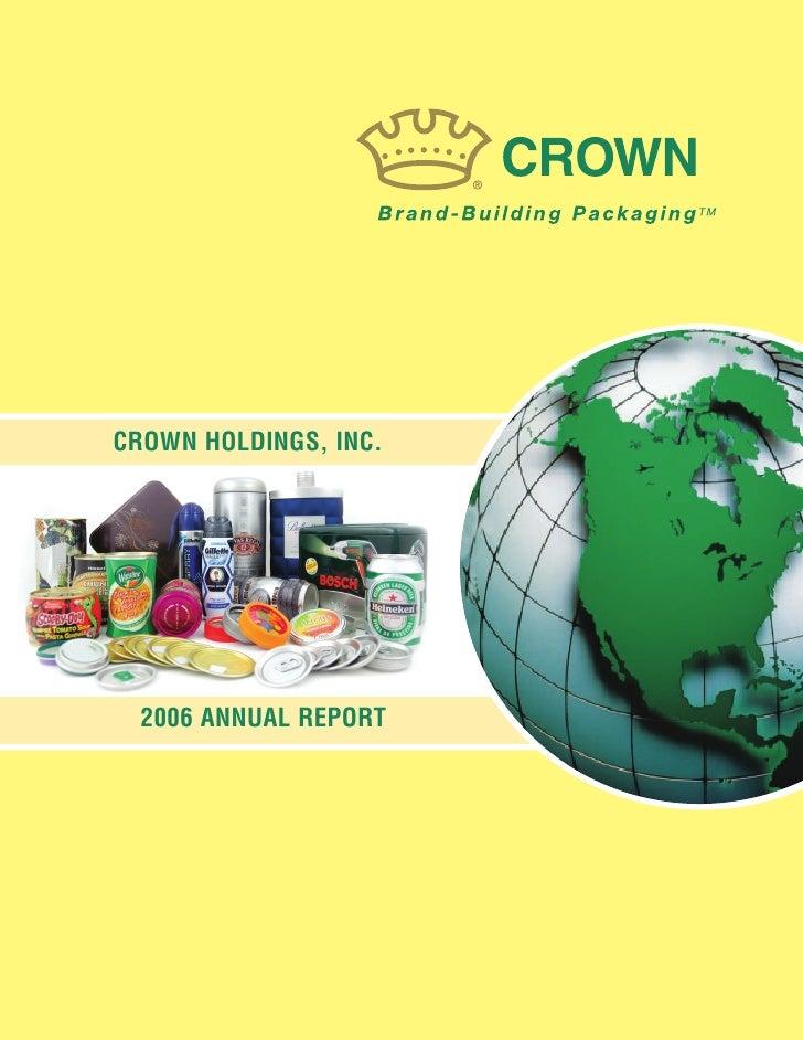 crown holdings  2006AR