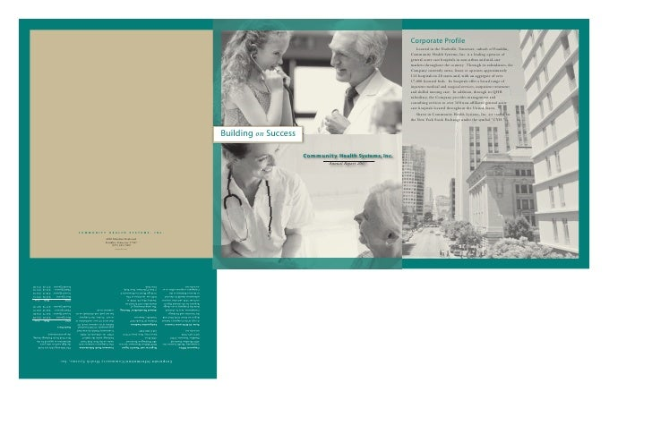 community health systems annual reports2007