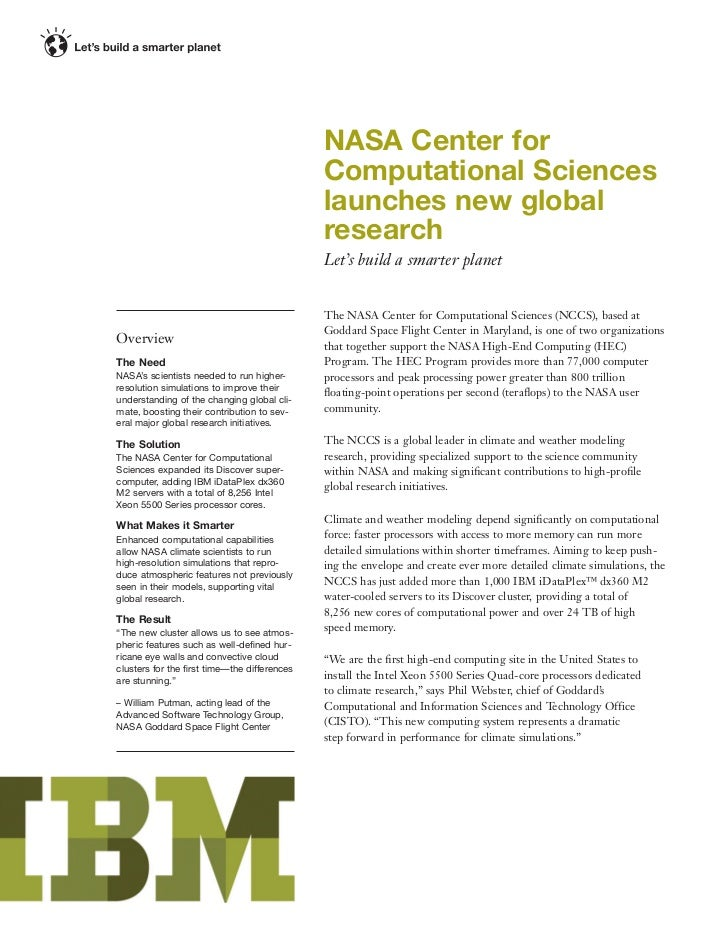 NASA Center for                                             Computational Sciences                                        ...