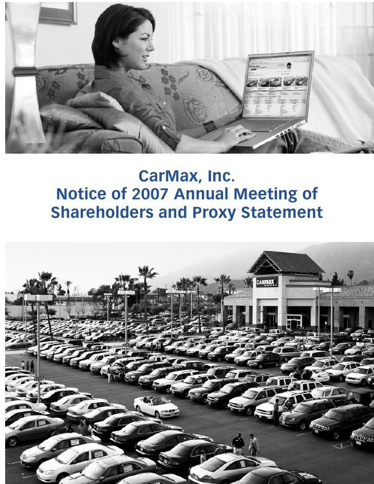CarMax, Inc.  Notice of 2007 Annual Meeting of Shareholders and Proxy Statement