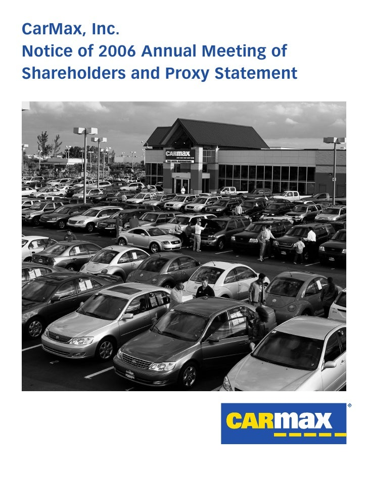 CarMax, Inc. Notice of 2006 Annual Meeting of Shareholders and Proxy Statement