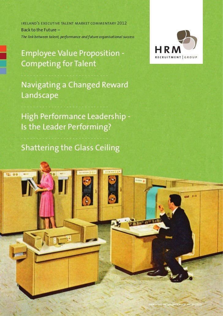 Ireland's Executive Talent Management Commentary 2012 - Back to the Future