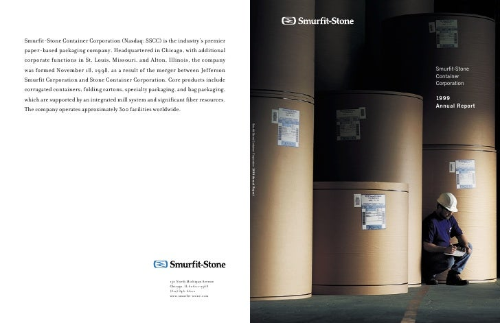 Annual Report Smurfit-Stone  Corporation Container                  1999                                Smurfit-Stone Contai...