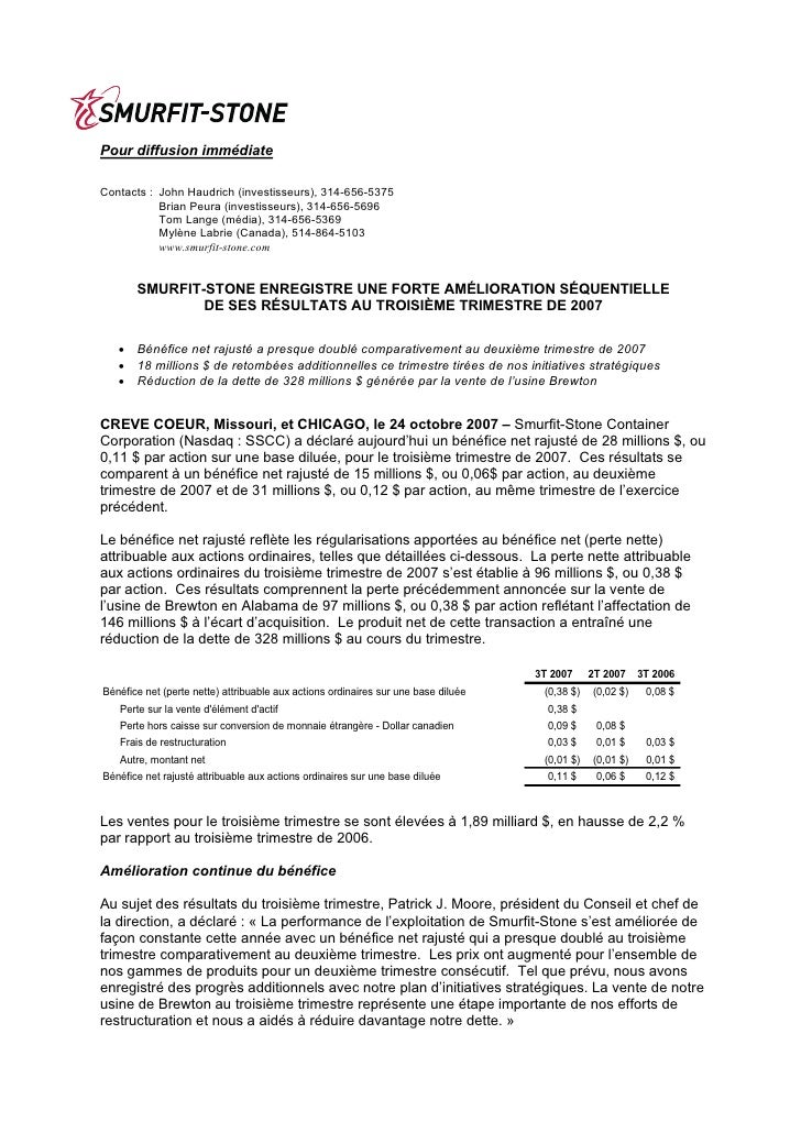 smurfit stone container 3Q07_Release_FR