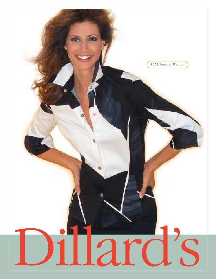 2003 Annual Report     Dillard's