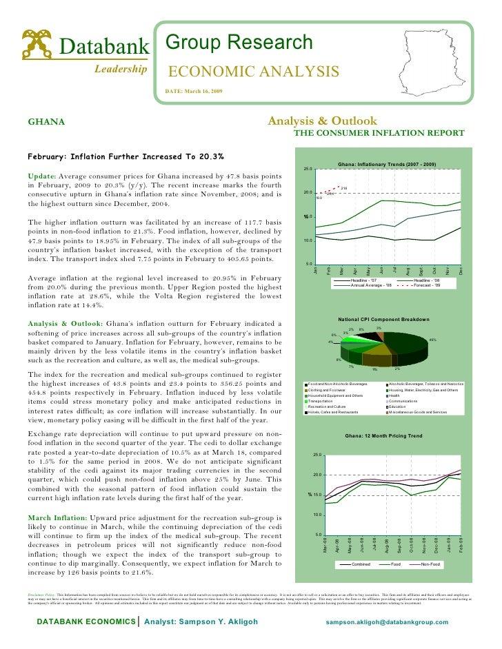 Databank Ghana Consumer Inflation Report February 2009