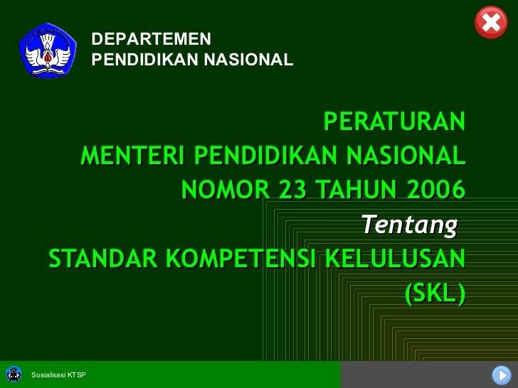 Permen No. 23 tahun 2006