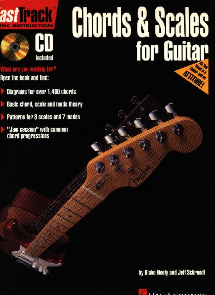 acordes y escalas para guitarra