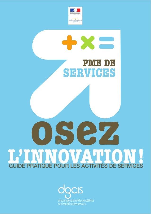 L'INNOVATION!GUIDE PRATIQUE POUR LES ACTIVITÉS DE SERVICES