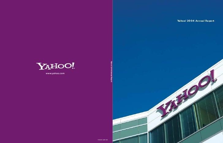 yahoo annual reports 2004