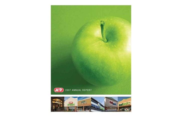 great atlantic & pacific tea  Annual_Report_2007