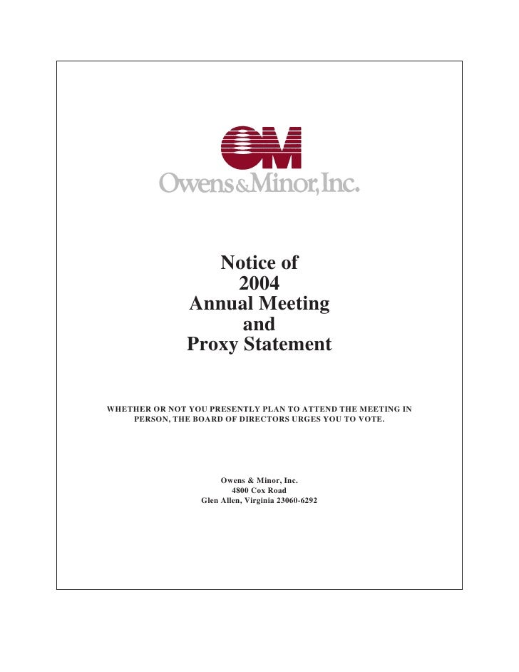 Notice of                     2004                Annual Meeting                      and                Proxy Statement  ...
