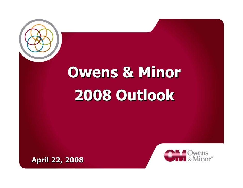 2008 OwensMinorOutlook