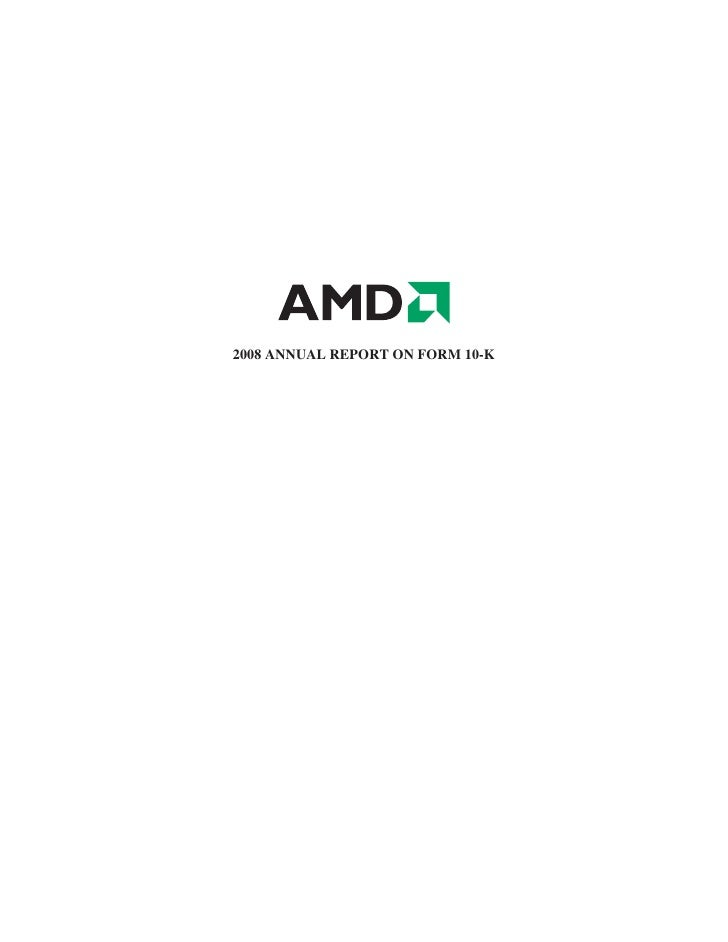 AMD 2008 Annual ReportonForm10-K
