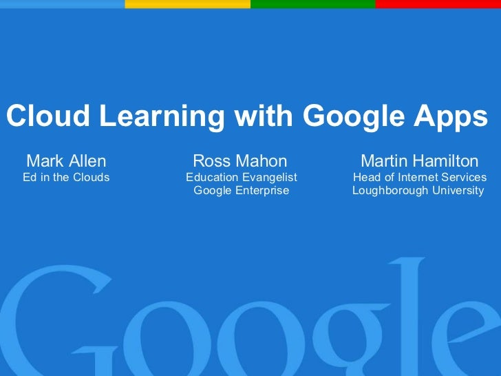 Cloud Learning with Google Apps