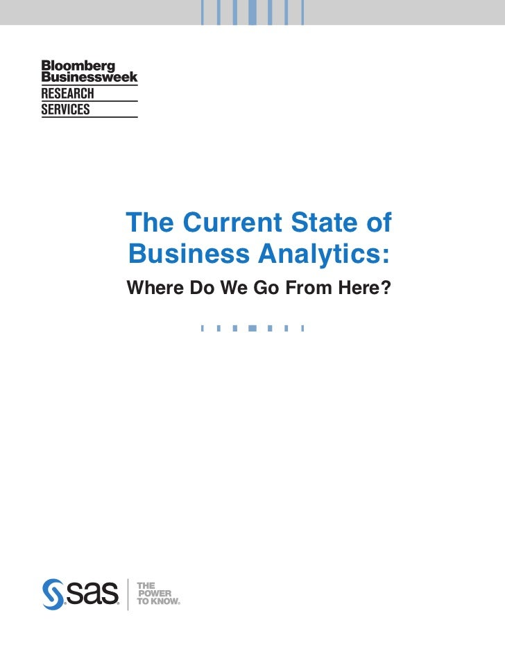 The Current State of Business Analytics