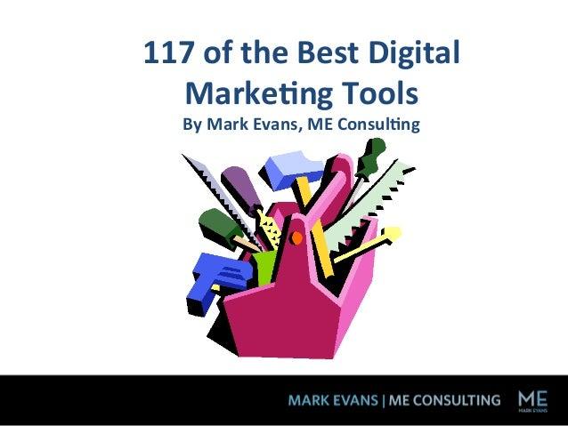 117 of the Leading Digital Marketing Tools