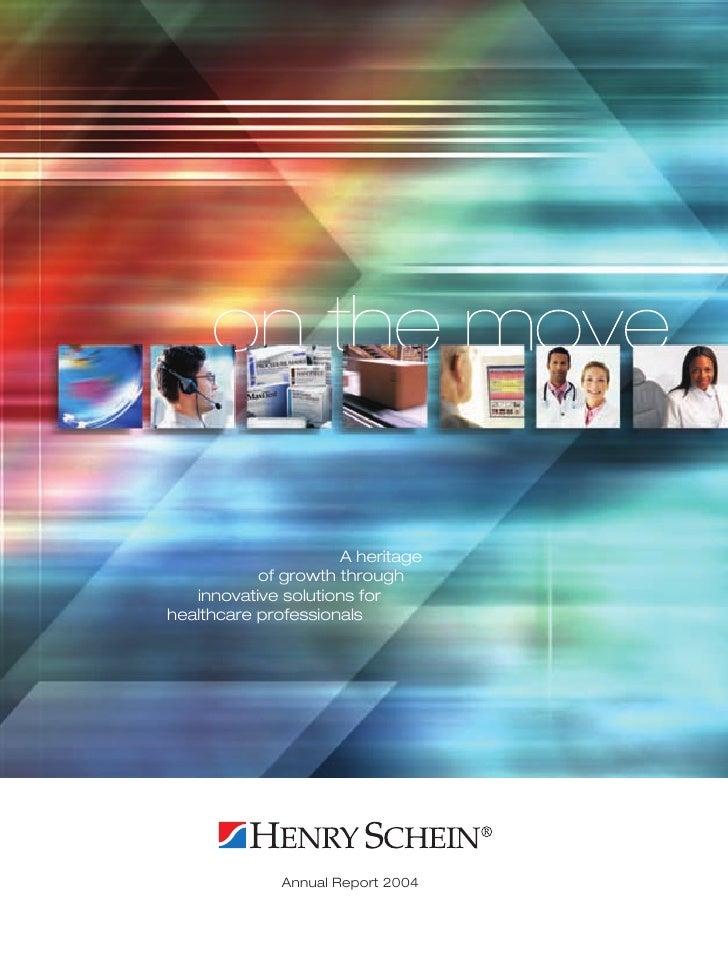 HENRY SCHEIN 2004AnnualReport