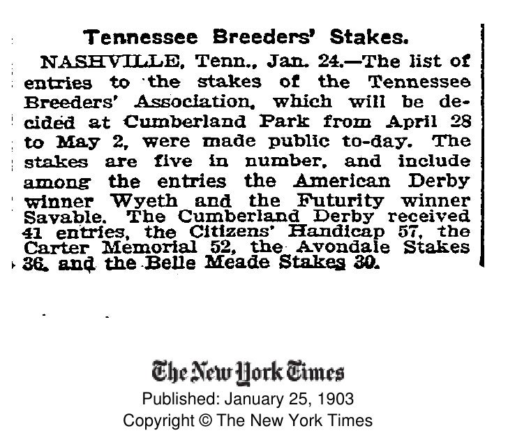 Published: January 25, 1903 Copyright © The New York Times