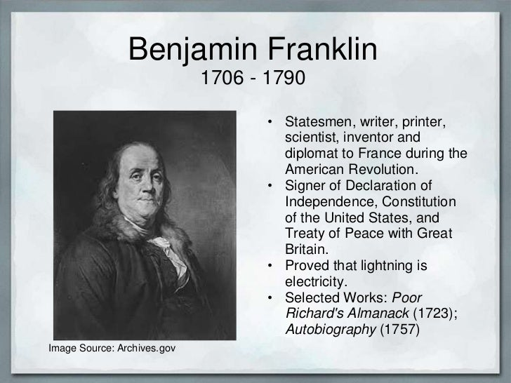 a biography of benjamin franklin an american author diplomat and scientist In this fourth of july episode, historian joyce chaplin discusses benjamin franklin the scientist, and how his science paved the way for his future career as a diplomat and elder statesman of the revolution she is the author of the book the first scientific american: benjamin franklin and the pursuit of genius.