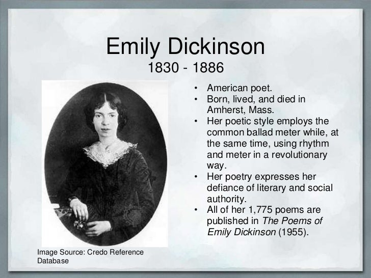 a biography of emily dickinson and characteristics of her poetry