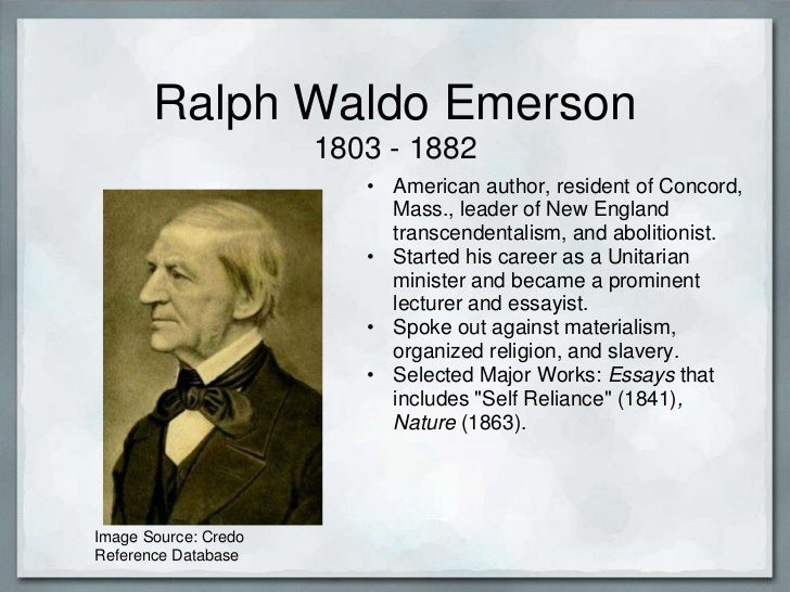an analysis of the theme of self reliance in ralph emersons works What is the theme or message of the essay self-reliance by ralph waldo emerson.