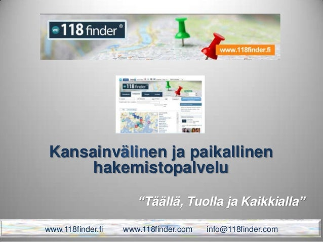 118finder presentation fin_2013
