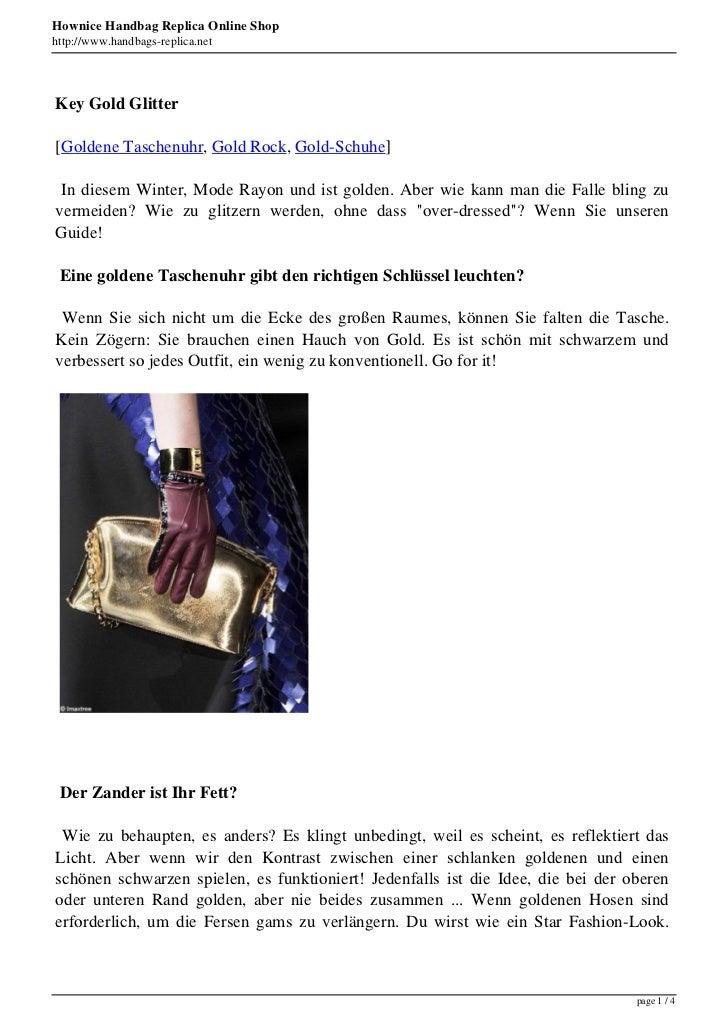 Hownice Handbag Replica Online Shophttp://www.handbags-replica.netKey Gold Glitter[Goldene Taschenuhr, Gold Rock, Gold-Sch...