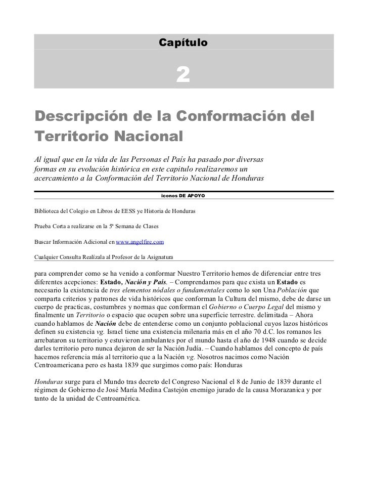 Capítulo                                                            2Descripción de la Conformación delTerritorio Nacional...