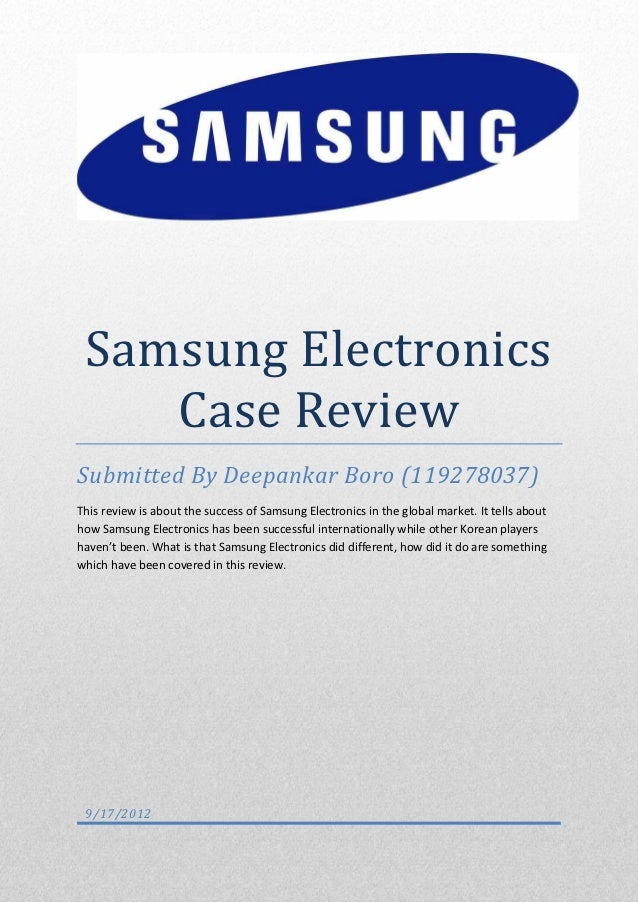 samsung case study international marketing