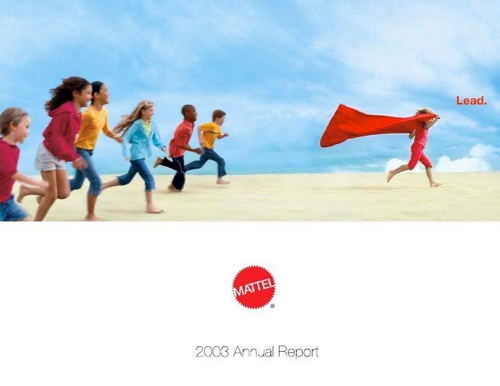 mattel annual reports 2003