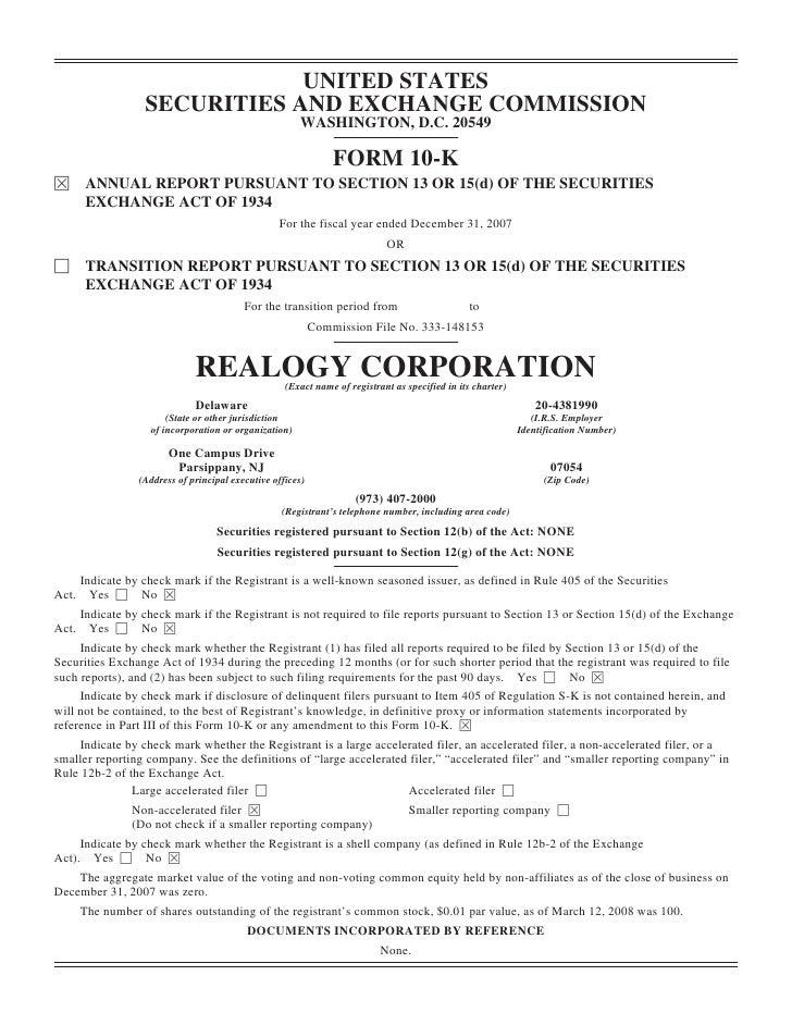 REALOGY_10_filing_K3_19_08