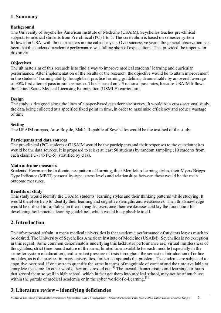 Example Of A Written Literature Review
