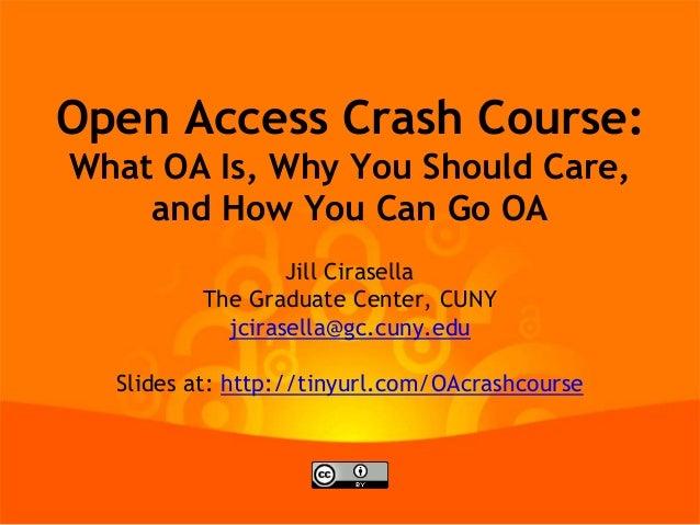 Open Access Publishing Crash Course