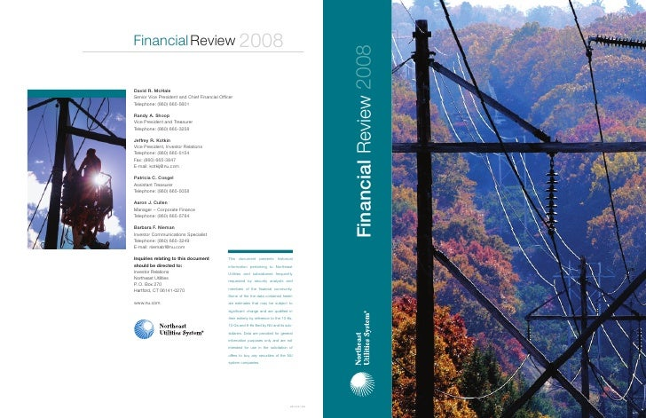 northheast utillities 2008_Financial_Review