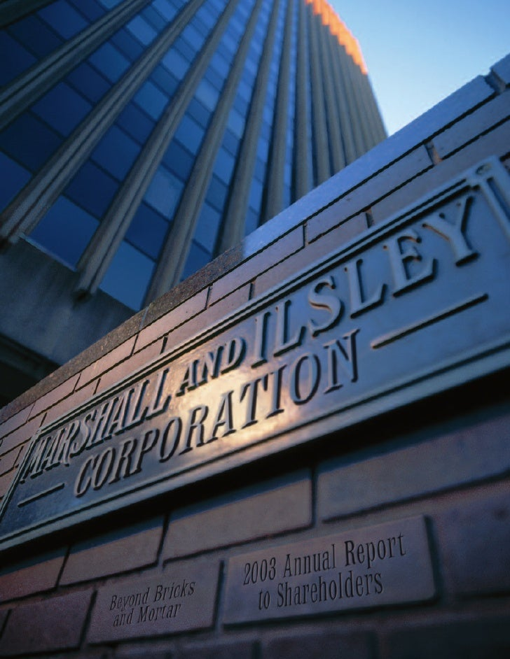 marshall  & llsley corp annual reports 2003
