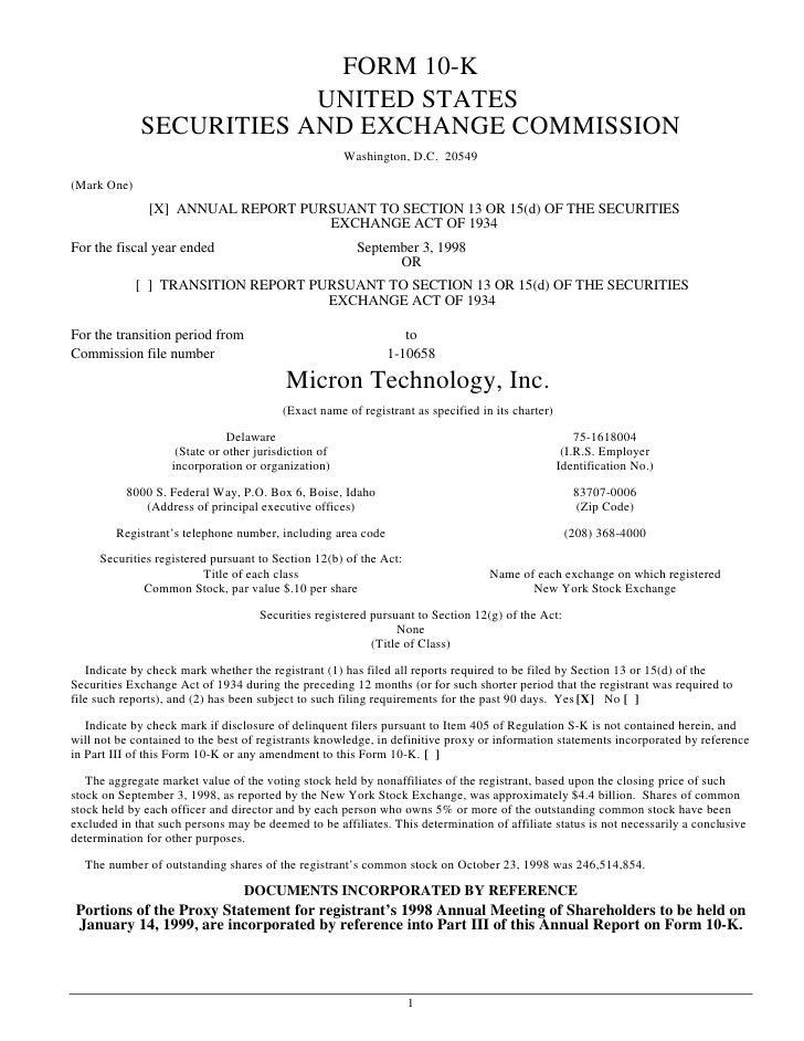 micron technollogy 1998_10k