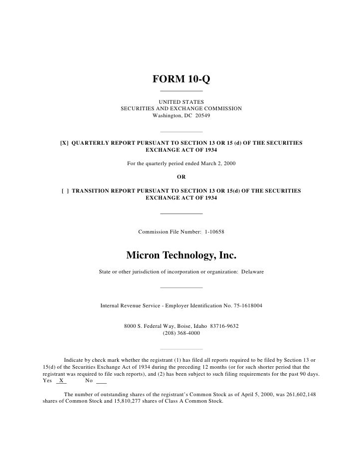 FORM 10-Q                                               UNITED STATES                                   SECURITIES AND EXC...