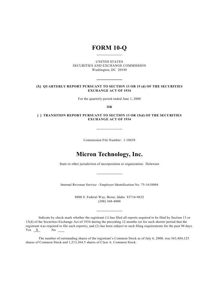 micron technollogy Q3_00_10Q