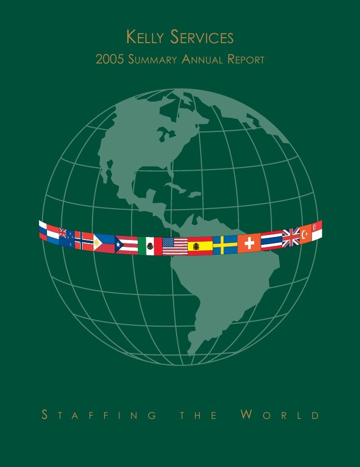 kelly services  annual reports 2005