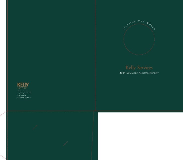 kelly services  annual reports 2004